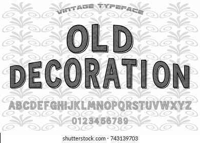 vintage font alphabet handcrafted vector old style named old decoration
