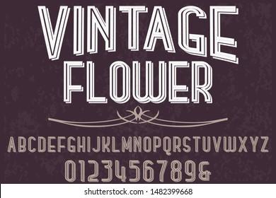 vintage Font alphabet Script Typeface handcrafted handwritten vector label design old style.Shadow Effect.vintage Hand Drawn.Retro Typography.Vector Illustration.