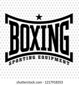 Vintage Font Boxing vector illustration. Template for print, t-shirt, poster or art works.