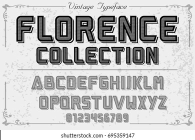 vintage font  handcrafted vector named florence collection