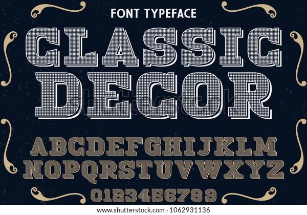 Vintage Font Handcrafted Vector Script Alphabetdesign Stock