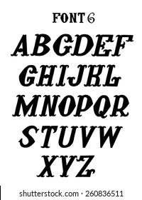 vintage font set, vector