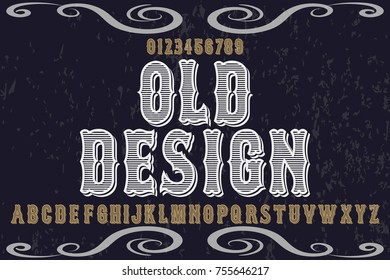 vintage font typeface handcrafted vector named old design