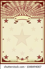 A vintage frame background circus for a poster