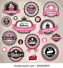 Vintage frame with bakery template set (44)