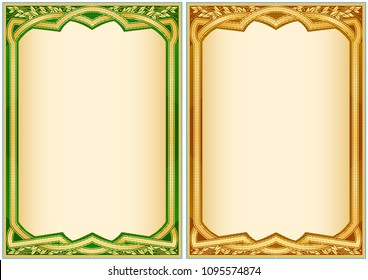 vintage frame borders diploma certificates stock vector royalty