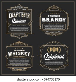 Vintage frame design for labels, banner, sticker and other design. Suitable for whiskey, beer and premium product