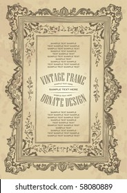 vintage frame design, vector