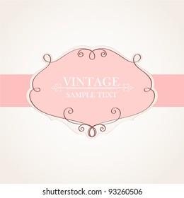Vintage frame. Element for design.