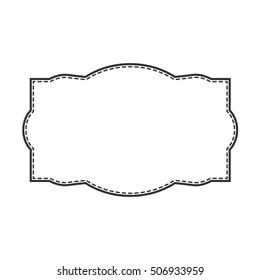 Vintage frame label