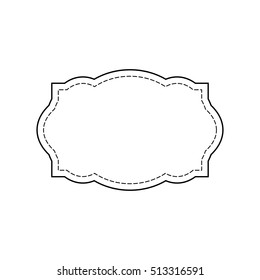 Vintage frame label , paper design for web, Stickers, Tags