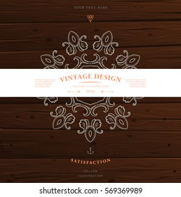 Vintage Frame for Luxury Logos, Restaurant, Hotel, Boutique or Business Identity. Royalty, Heraldic Design with Flourishes Elegant Elements. Vector Illustration Template.