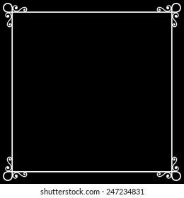 Vintage Frame on Chalkboard Retro Background for Silent Film. Vector illustration