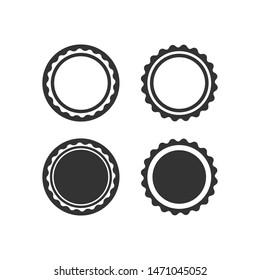 Vintage frame set isolated on white background. Retro labels or badges. Design elements. Vector illustration.