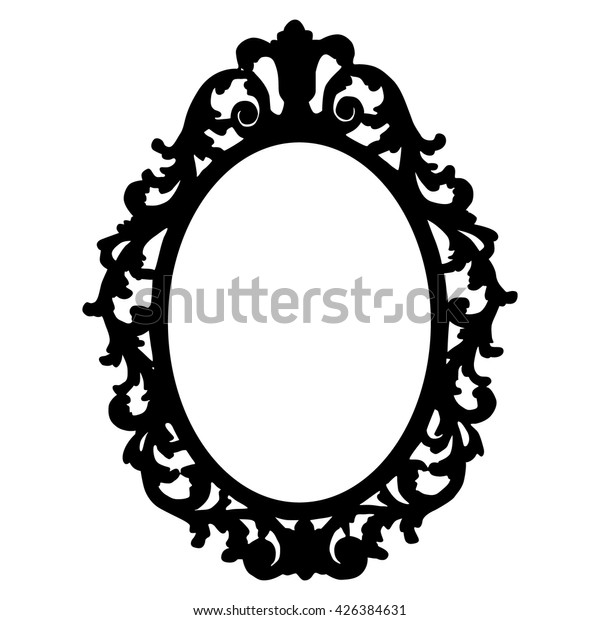 Vintage Frame Silhouette On White Background Stock Vector