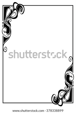 Vintage Frame Template Graphic Frame Classic Stock Vector (Royalty ...