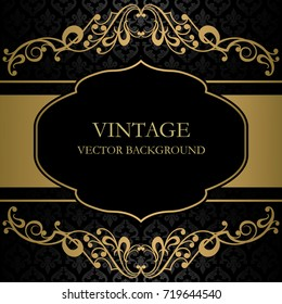 Vintage frame vector background