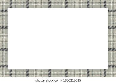 Vintage frame vector. Scottish border pattern retro style. Beauty empty background, template for photo, portrait, album. Tartan plaid ornament.