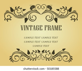 Vintage frame in victorian style for design as a background. Jpeg version also available