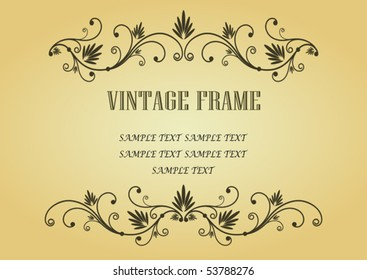 Vintage frame in victorian style for design as a background. Jpeg version also available in gallery