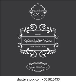 Vintage Frames and Calligraphic Design Elements, with place for your text