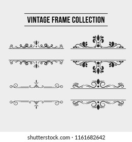 Vintage frames and headers
