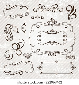 Vintage frames and scroll elements