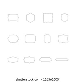 Vintage Frames Set - Bundle of 12 white frames with dotted lines in different styles. Use these simple and elegant vintage frames to create your own unique designs.