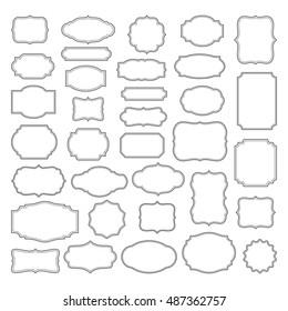 Vintage Frames Set - Vintage frames vector clipart bundle