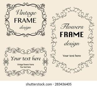 Vintage frames. Vector illustration