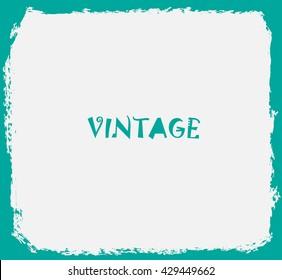Vintage Frame.Vector Grunge Frame.