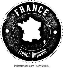 Vintage France Country Stamp
