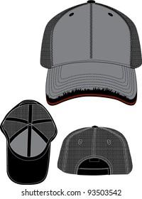 vintage frayed hat