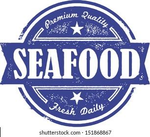 Vintage Fresh Seafood Label