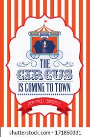 vintage fun fair/carnival/circus poster template vector/illustration