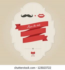 Vintage funny wedding invitation with place for text