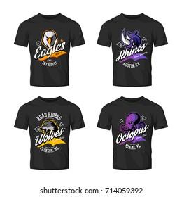 Vectores, imágenes y arte vectorial de stock sobre Black T Shirt
