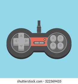 Vintage Game Joystick. Vector Gamepad Icon