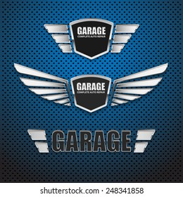 Vintage garage retro label design.vector