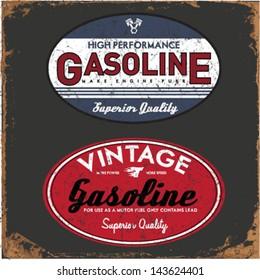 Vintage Gasoline & Motor oil