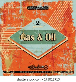 Vintage Gasoline & Motor oil sign
