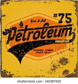 Vintage Gasoline & Motor oil | T-shirt Printing |