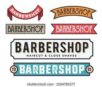 Vintage Gentleman Close Shave Barbershop Sign Board Illustration