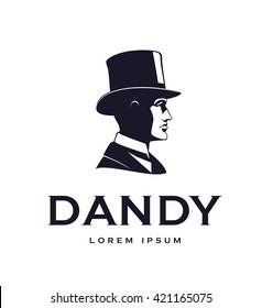 Vintage gentleman logo.