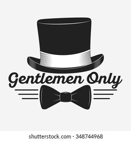 Vintage gentlemen club logo, gentlemen label, design elements for your projects, cards, invitation. Gentleman classic illustration