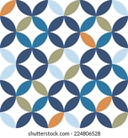Vintage Geometric Seamless Pattern Vector Illustration
