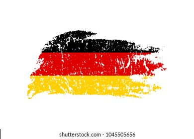 Vintage German flag illustration. Vector German flag on grunge texture.