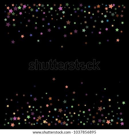 vintage glitter vector stars falling down cool vintage confetti celebration border frame christmas