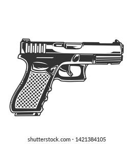 pistol vector glock images stock photos vectors shutterstock https www shutterstock com image vector vintage glock pistol concept monochrome style 1421384105