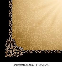 Vintage gold background, vector eps10